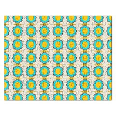 Blue Flowers Pattern Jigsaw Puzzle (rectangular) by LalyLauraFLM