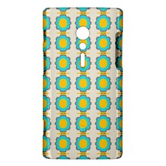 Blue flowers pattern Sony Xperia ion Hardshell Case  by LalyLauraFLM