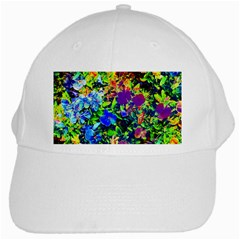 The Neon Garden White Cap by rokinronda