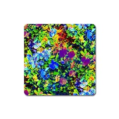 The Neon Garden Square Magnet by rokinronda