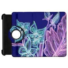Bluepurple Kindle Fire Hd Flip 360 Case by rokinronda