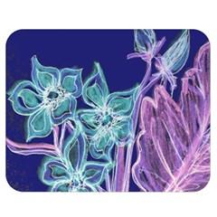 Bluepurple Double Sided Flano Blanket (Medium)  by rokinronda