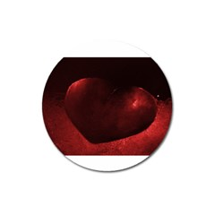 Red Heart Magnet 3  (round) by timelessartoncanvas