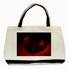 Red Heart Basic Tote Bag (two Sides)  by timelessartoncanvas