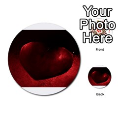 Red Heart Multi Purpose Cards (round)  by timelessartoncanvas