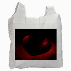 Red Heart Recycle Bag (two Side)  by timelessartoncanvas