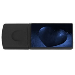 Blue Heart Collection Usb Flash Drive Rectangular (4 Gb)  by timelessartoncanvas