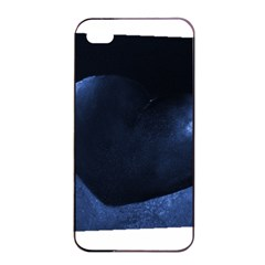 Blue Heart Collection Apple Iphone 4/4s Seamless Case (black)