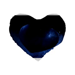 Blue Heart Collection Standard 16  Premium Flano Heart Shape Cushions by timelessartoncanvas