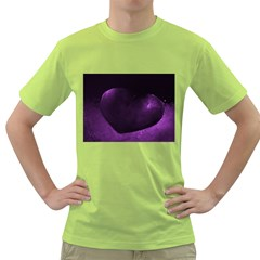 Purple Heart Collection Green T-Shirt by timelessartoncanvas