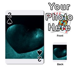 Teal Heart Playing Cards 54 Designs