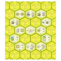 Castles Of Burgundy   Yellow Tiles By Philipp Wolter   Drawstring Pouch (small)   W1lf8to9c1vr   Www Artscow Com Front