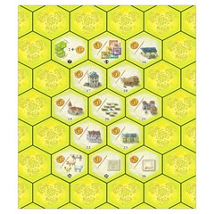 Castles Of Burgundy   Yellow Tiles By Philipp Wolter   Drawstring Pouch (small)   W1lf8to9c1vr   Www Artscow Com Back