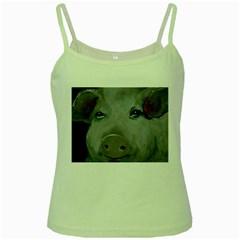 Piggy No  1 Green Spaghetti Tanks by timelessartoncanvas