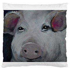 Piggy No. 1 Large Flano Cushion Cases (One Side)