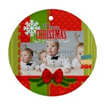 xmas - Round Ornament (Two Sides)