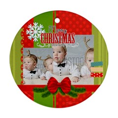 Xmas By Xmas   Round Ornament (two Sides)   Zozve3mu1z1s   Www Artscow Com Back