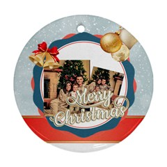 Xmas By Xmas   Round Ornament (two Sides)   Qfuo6lkoe7za   Www Artscow Com Front