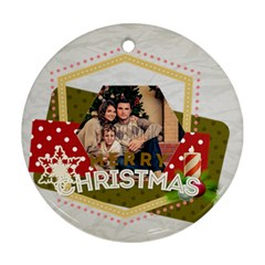 Xmas By Xmas   Round Ornament (two Sides)   5vm88gtjv6jr   Www Artscow Com Back