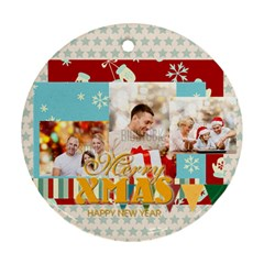 Xmas By Xmas   Round Ornament (two Sides)   Ejxmej4mh3y9   Www Artscow Com Back