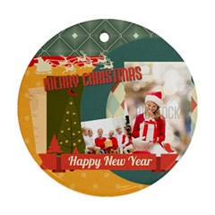 Xmas By Xmas   Round Ornament (two Sides)   Nkhu3qhrwozx   Www Artscow Com Front