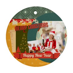 Xmas By Xmas   Round Ornament (two Sides)   Nkhu3qhrwozx   Www Artscow Com Back