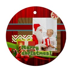 Xmas By Xmas   Round Ornament (two Sides)   Scheennq2a8d   Www Artscow Com Back