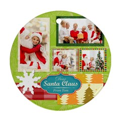 Xmas By Xmas   Round Ornament (two Sides)   9ycol5izoe5j   Www Artscow Com Back
