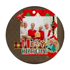 Xmas By Xmas   Round Ornament (two Sides)   Ummi4z20n76i   Www Artscow Com Back