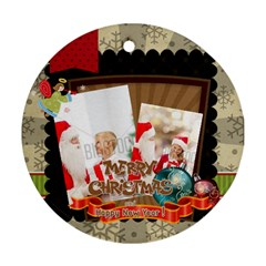 Xmas By Xmas   Round Ornament (two Sides)   7je7fkfdfjs7   Www Artscow Com Front