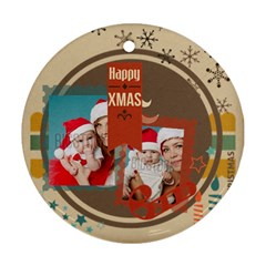 Xmas By Xmas   Round Ornament (two Sides)   Zsbc7lxzv0w0   Www Artscow Com Back