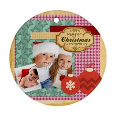 Xmas By Xmas   Round Ornament (two Sides)   0ymvik2up5yt   Www Artscow Com Front