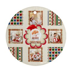 Xmas By Xmas   Round Ornament (two Sides)   H1o1dmq632vy   Www Artscow Com Front