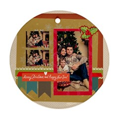Xmas By Xmas   Round Ornament (two Sides)   Ya7abdxsjwnm   Www Artscow Com Back