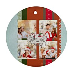Xmas By Xmas   Round Ornament (two Sides)   6hfu9h08wwsk   Www Artscow Com Back