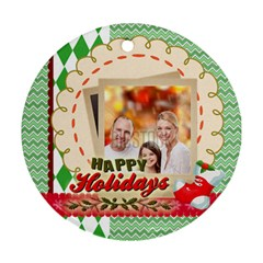 Xmas By Xmas   Round Ornament (two Sides)   6w1557qd3fom   Www Artscow Com Back
