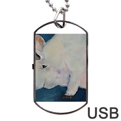 Piggy No  2 Dog Tag Usb Flash (two Sides)