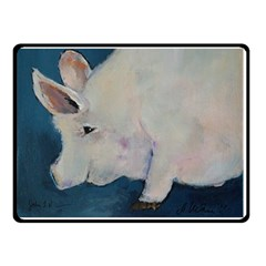 Piggy No  2 Double Sided Fleece Blanket (small)  by timelessartoncanvas