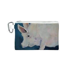 Piggy No. 2 Canvas Cosmetic Bag (S) by timelessartoncanvas