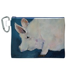 Piggy No  2 Canvas Cosmetic Bag (xl)  by timelessartoncanvas