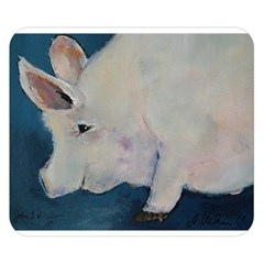 Piggy No. 2 Double Sided Flano Blanket (Small)