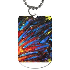 The Looking Glas Dog Tag (two Sides) by timelessartoncanvas