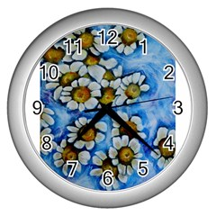 Floating On Air Wall Clocks (silver)  by timelessartoncanvas