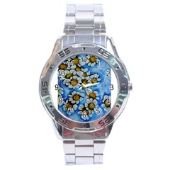 Floating On Air Stainless Steel Men s Watch by timelessartoncanvas