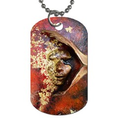 Red Mask Dog Tag (two Sides) by timelessartoncanvas