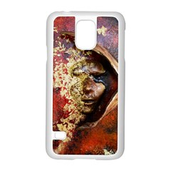 Red Mask Samsung Galaxy S5 Case (white) by timelessartoncanvas