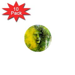 Green Mask 1  Mini Magnet (10 Pack)  by timelessartoncanvas