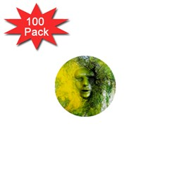Green Mask 1  Mini Buttons (100 Pack)  by timelessartoncanvas