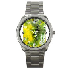 Green Mask Sport Metal Watches by timelessartoncanvas