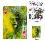 Green Mask Playing Cards 54 Designs  Front - Heart5